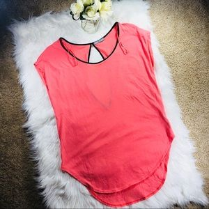 Zara W&B pink tank with cutout back
